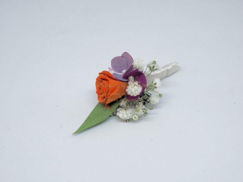 Fiore occhiello sposo e testimoni